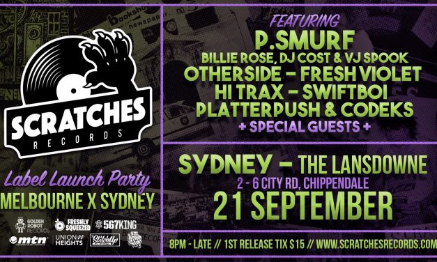 Scratches Records Label Launch in Sydney
