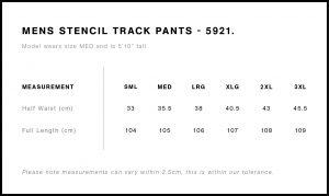 AS Colour Mens Stencil Track Pants