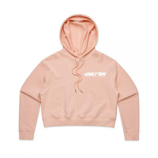 Honey Trap Peach Hoodie Crop